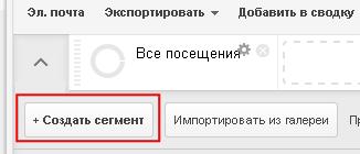 Cоздание расширенного сегмента Google Analytics