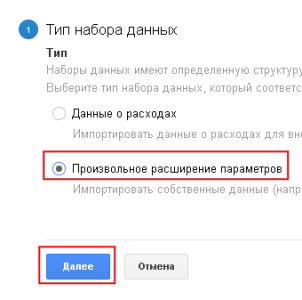 Тип данных в Google Analytics
