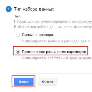 Тип данных в Google Analytics