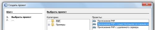 Тип проекта в NetBeanse