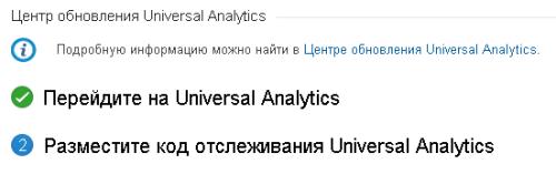 Переход на Universal Analytics