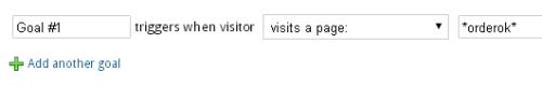 Настройка цели Visual Website Optimizer