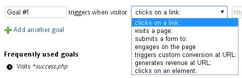 Типы целей в Visual Website Optimizer