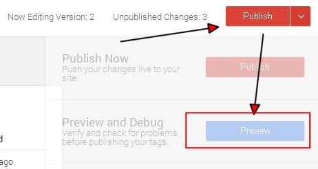 Режим просмотра в Google Tag Manager