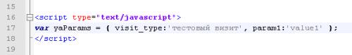 Параметры вызитов в исходном коде