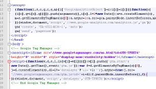 мини к коду ga и gtm