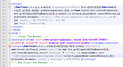Код Google Analytics и Google Tag Manager на одной странице