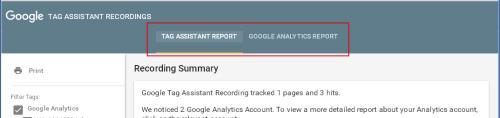 Google Tag Assistant просмотр записи