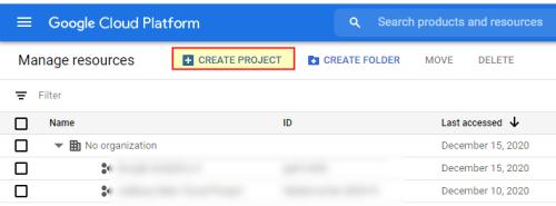 Проекты в Google Cloud